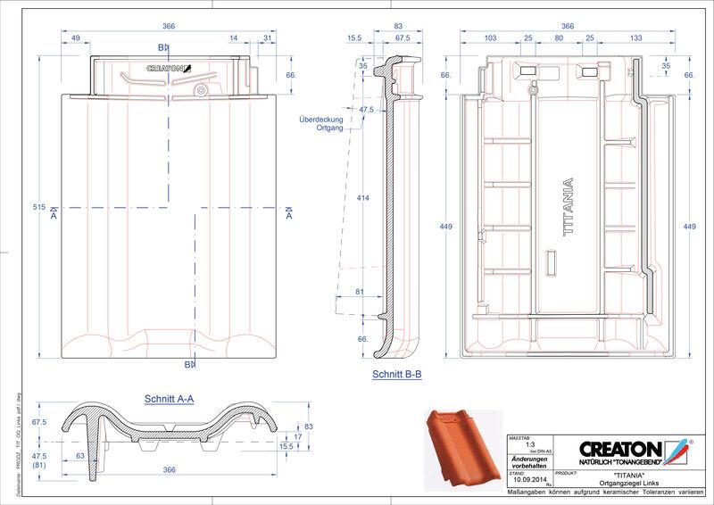 Súbor CAD škridly TITANIA krajná škridľa ľavá OGL
