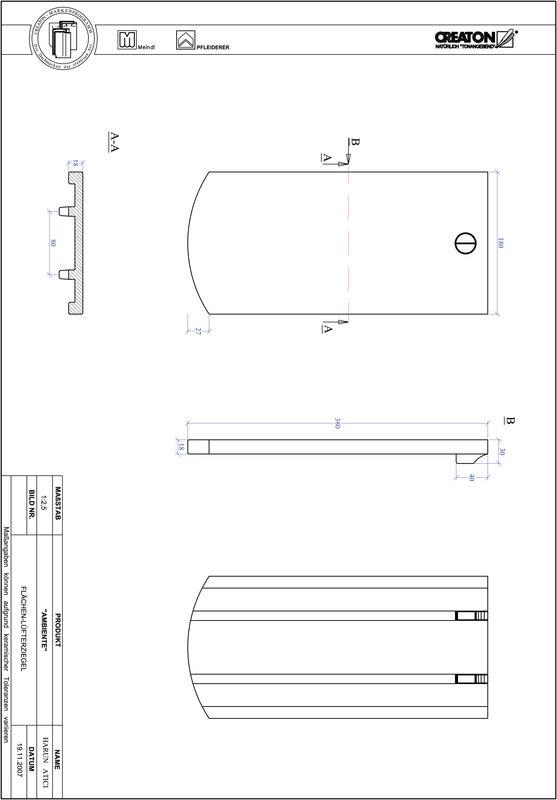 Súbor CAD škridly AMBIENTE segmentový rez SEG-FLUEFTZ