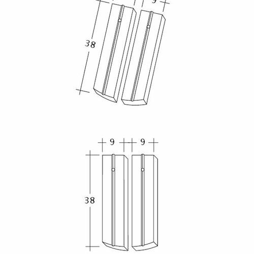 Technický výkres škridly PROFIL Kera-Saechs-18cm-1-2