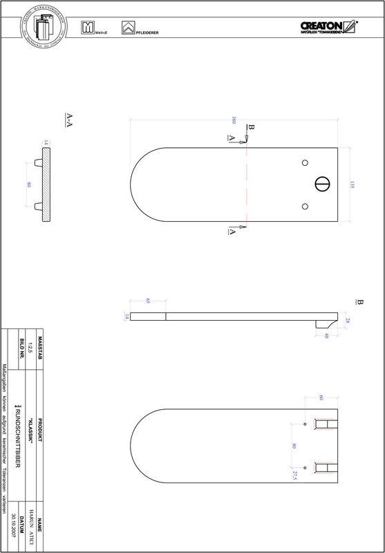 Súbor CAD škridly KLASSIK zaoblený vzor RUND-3-4