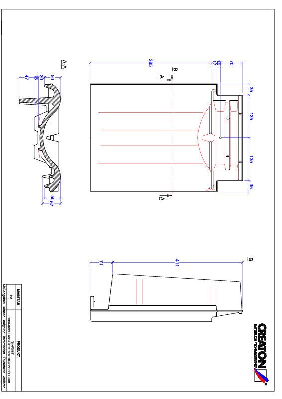 Súbor CAD škridly SINFONIE podhrebeňová vetracia škridľa krajná ľavá FALOGL