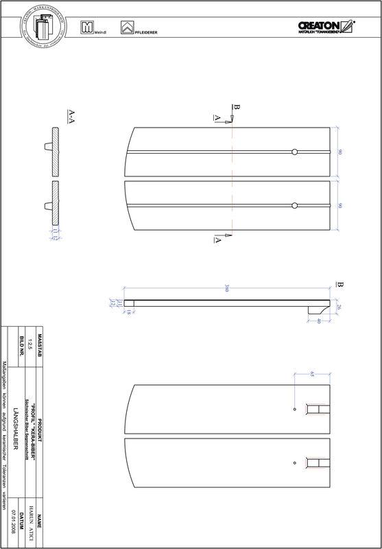 Súbor CAD škridly PROFIL segmentový vzor KERA-SAECHS-18-CM-LH