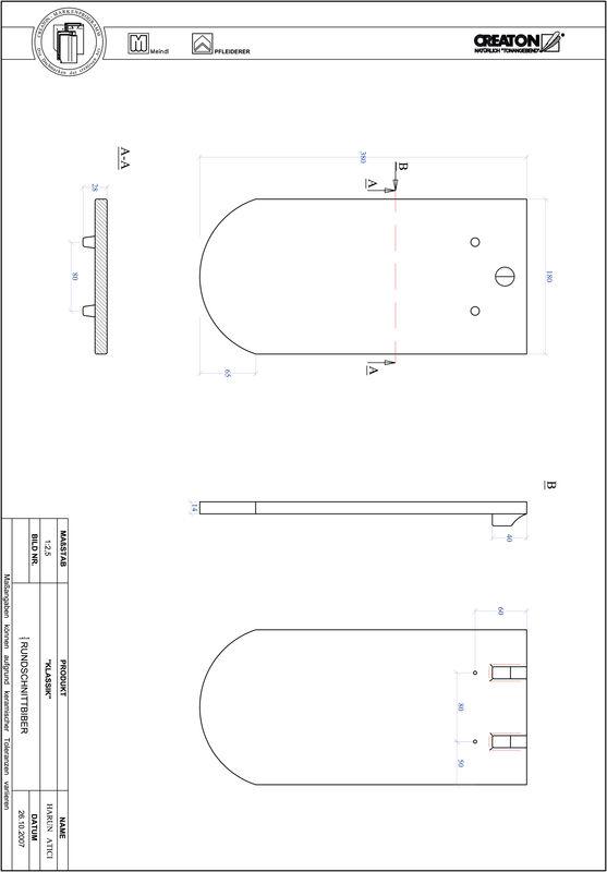 Súbor CAD škridly KLASSIK zaoblený vzor RUND-1-1