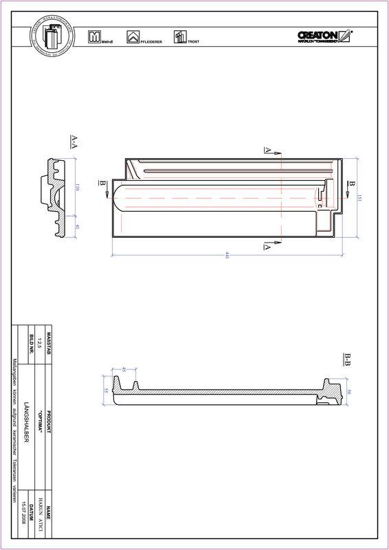 Súbor CAD škridly TERRA OPTIMA polovičná škridľa LH