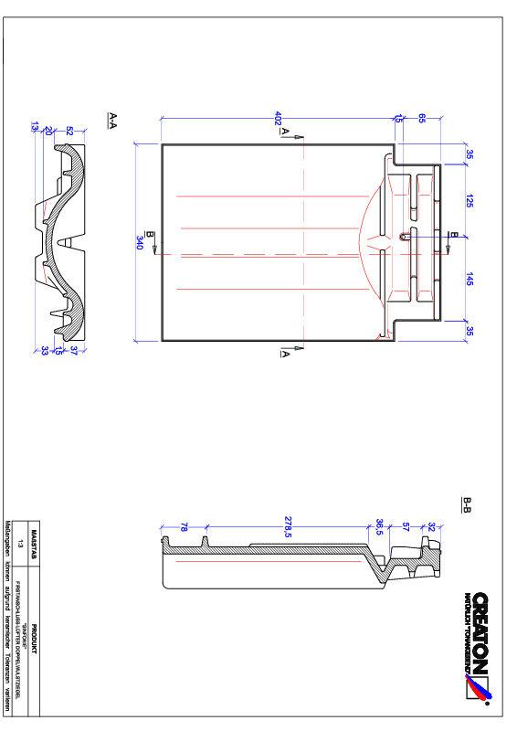 Súbor CAD škridly SINFONIE podhrebeňová vetracia škridľa s dvojitou vlnou FALDWZ