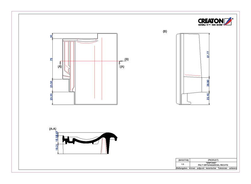 Súbor CAD škridly SINFONIE pultová škridľa krajná pravá PULTOGR
