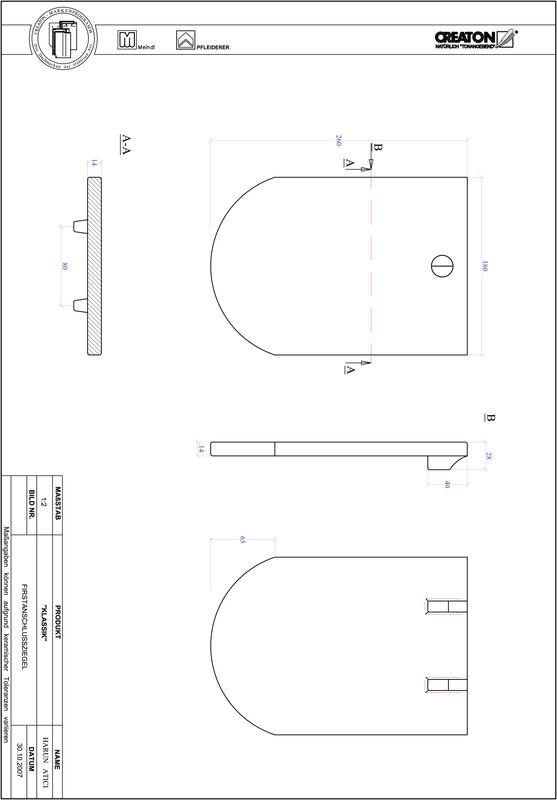 Súbor CAD škridly KLASSIK zaoblený vzor RUND-FAZ