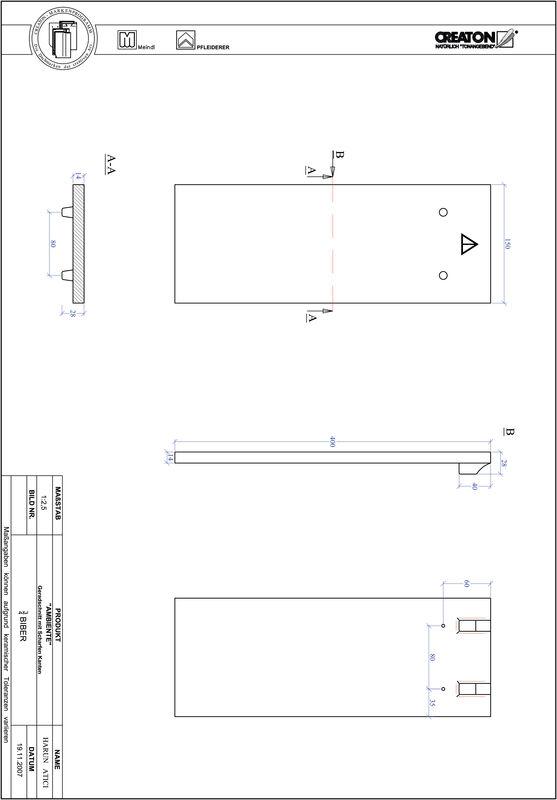 Súbor CAD výrobku AMBIENTE, rovný rez GER-3-4