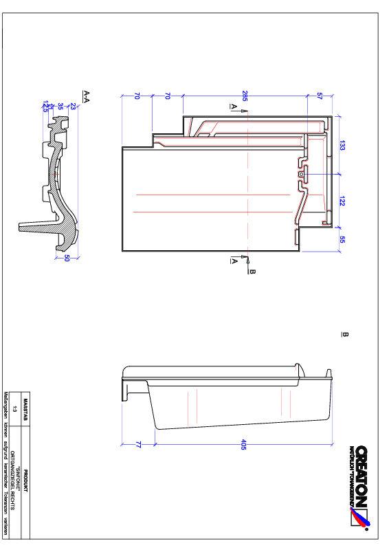 Súbor CAD škridly SINFONIE krajná škridľa pravá OGR