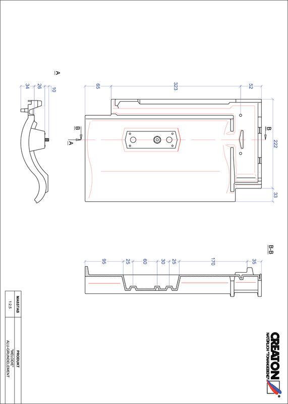 Súbor CAD škridly MELODIE hliníková základná škridľa GRUNDALU