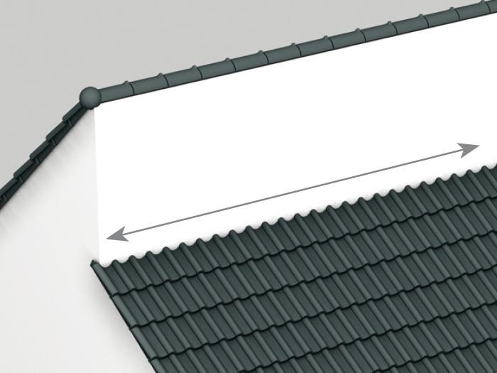 Spojenie plochy strechy a steny