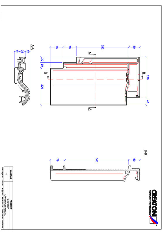 Súbor CAD škridly SINFONIE polovičná škridľa LH