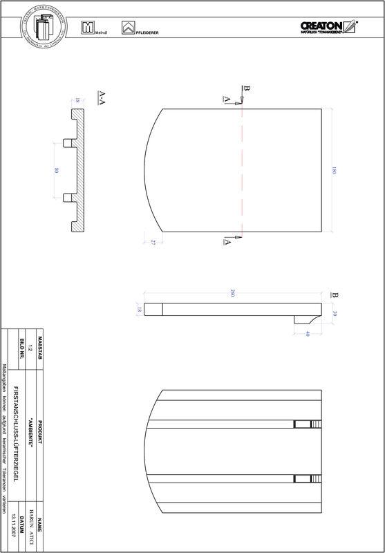 Súbor CAD škridly AMBIENTE segmentový rez SEG-FALZ