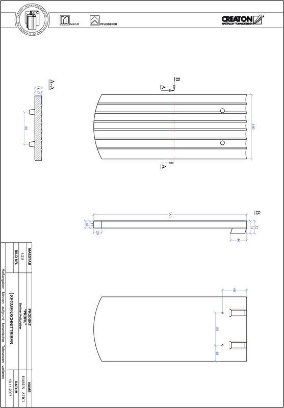 Súbor CAD škridly PROFIL segmentový vzor BKBI-1-1