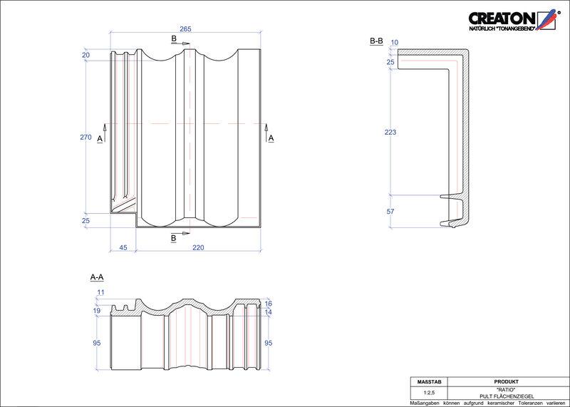 Súbor CAD škridly RATIO pultová škridľa PULTFLA