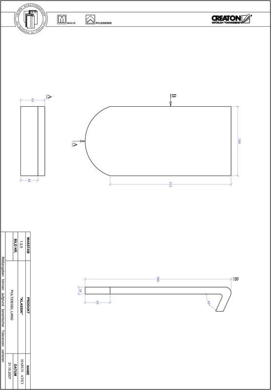Súbor CAD škridly KLASSIK zaoblený vzor RUND-PULT-lang1