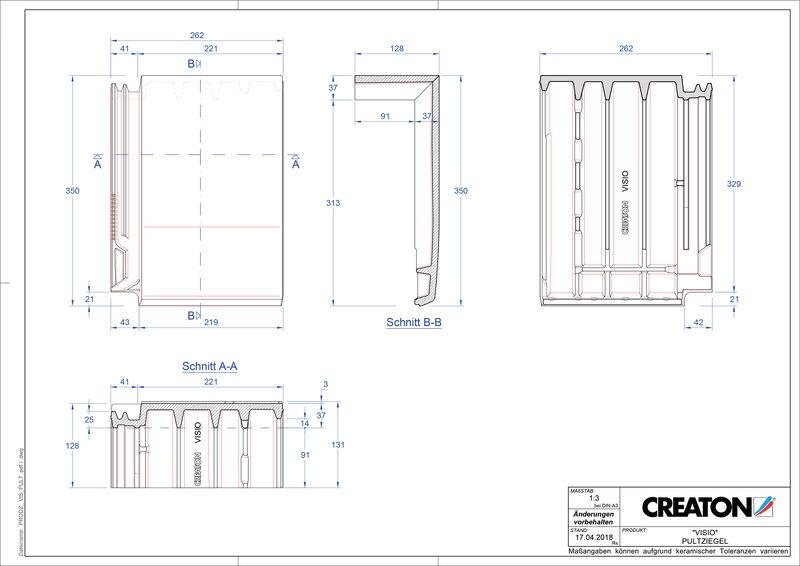 Súbor CAD škridly VISIO pultová škridľa PULT