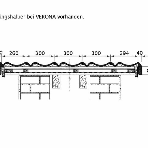 Technický výkres škridly VERONA ORL PROFILIERTE-BDS
