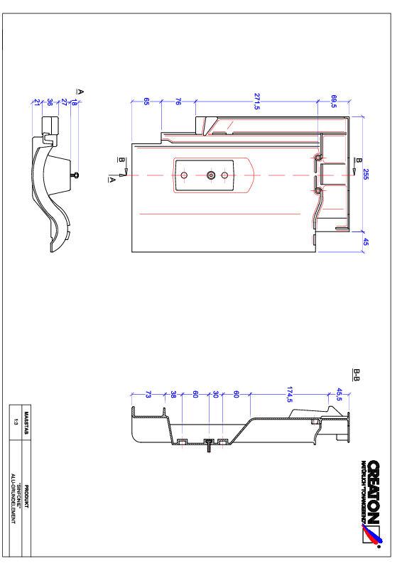 Súbor CAD škridly SINFONIE hliníková základná škridľa GRUNDALU