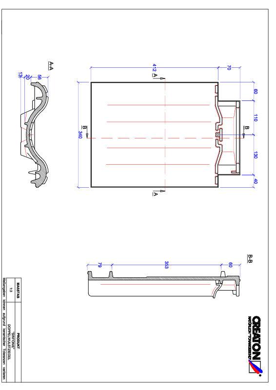 Súbor CAD škridly SINFONIE škridľa s dvojitou vlnou DWZ