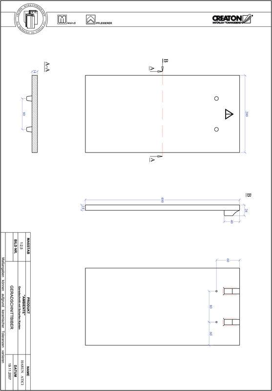 Súbor CAD výrobku AMBIENTE, rovný rez GER-SCHARFE-KANTE