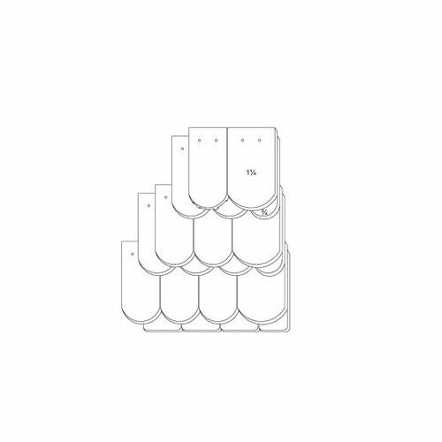 Technický výkres škridly KLASSIK OGAusbildung-Kronendeckung-3-4-1-1-4-Traufziegel
