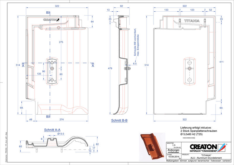 Súbor CAD škridly TITANIA hliníková základná škridľa GRUNDALU