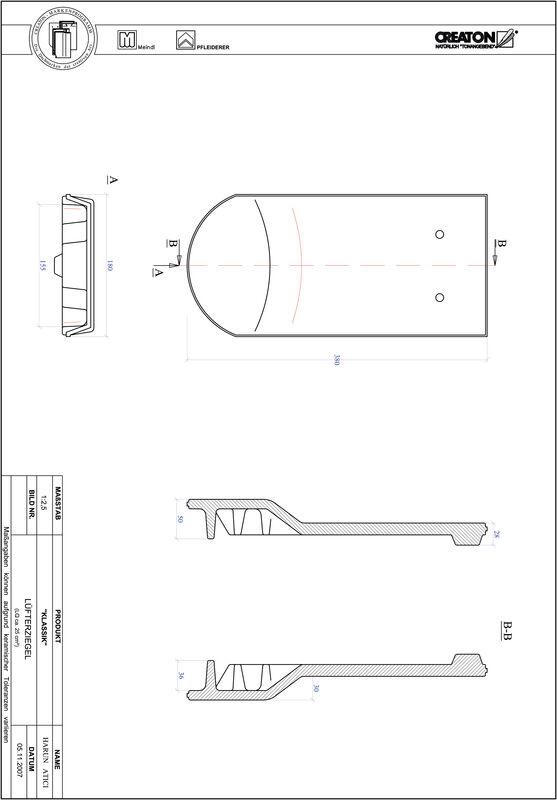 Súbor CAD škridly KLASSIK zaoblený vzor RUND-LUEFTZ