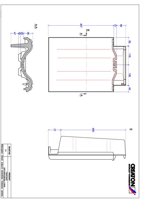 Súbor CAD škridly SINFONIE krajná škridľa ľavá OGL