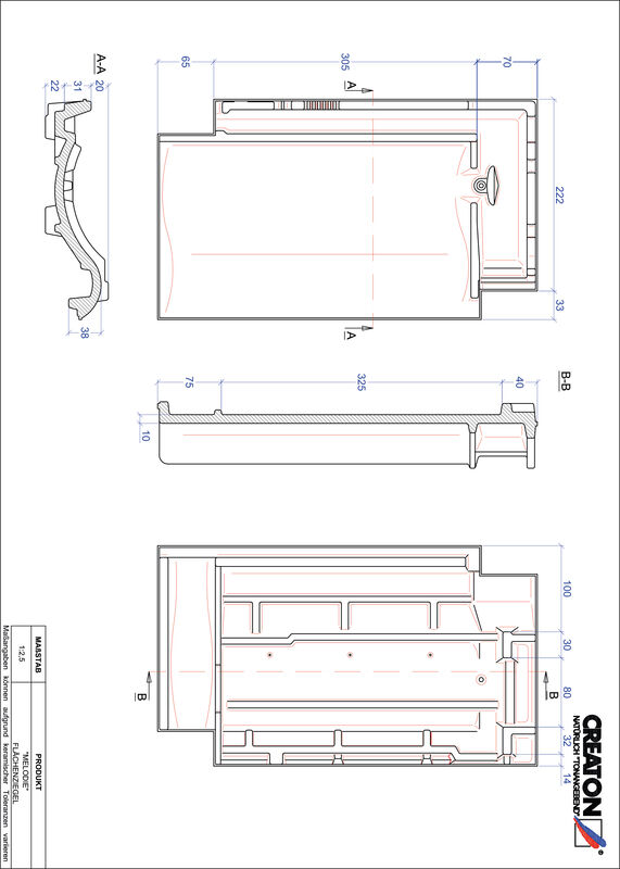 Súbor CAD škridly MELODIE škridľa FLA