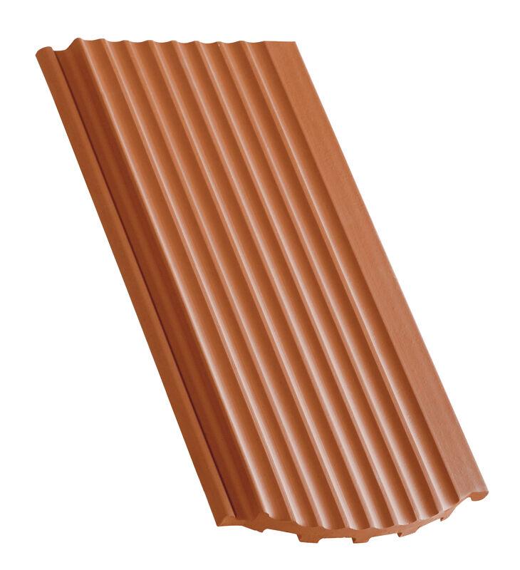 Side interlock tile, ridged surface segmentový tvar odvetrávacia škridla