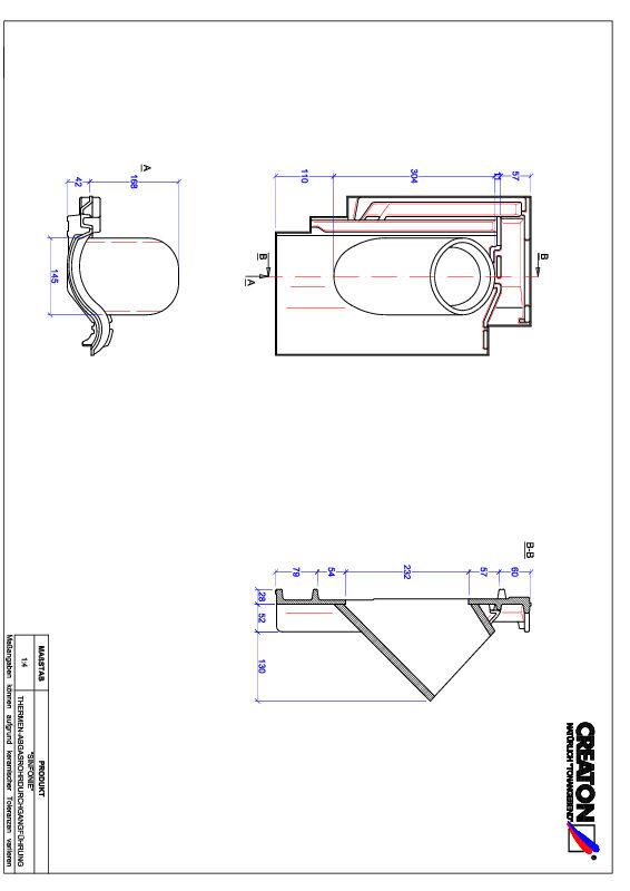 Súbor CAD škridly SINFONIE prestupová škridľa na odvod spalín THERME