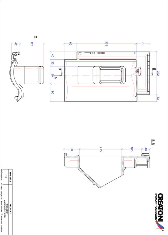 Súbor CAD škridly MELODIE anténna škridľa ANTENNE