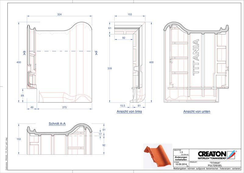 Súbor CAD škridly TITANIA pultová škridľa PULT