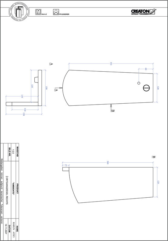 Súbor CAD škridly AMBIENTE segmentový rez SEG-OGR-3-4