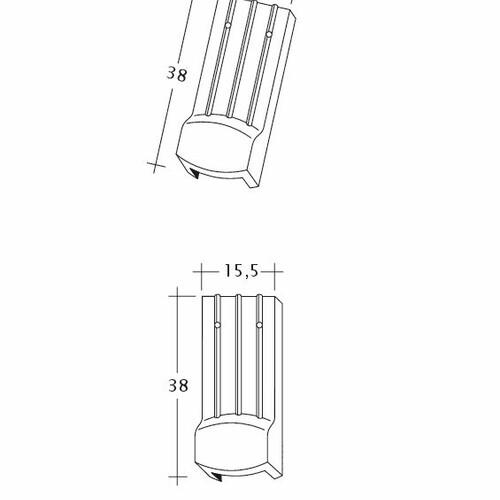 Technický výkres škridly PROFIL Kera-Saechs-15cm-LUEFTZ