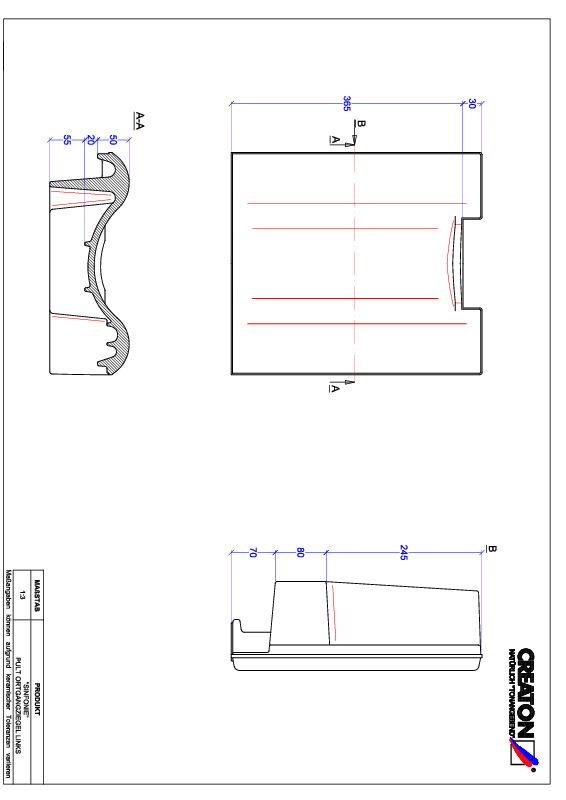 Súbor CAD škridly SINFONIE pultová škridľa krajná ľavá PULTOGL