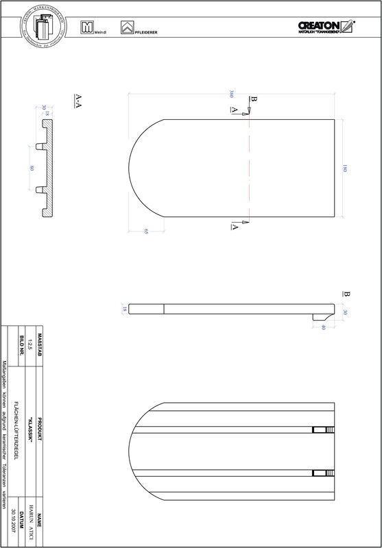 Súbor CAD škridly KLASSIK zaoblený vzor RUND-FLUEFTZ