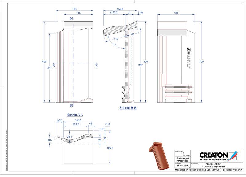 Súbor CAD škridly GÖTEBORG pultová škridľa Pult-halb