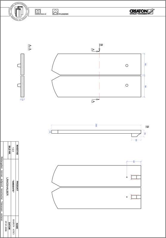 Súbor CAD škridly AMBIENTE segmentový rez SEG-LH