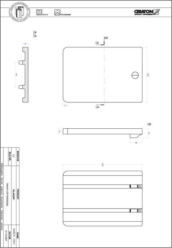 Súbor CAD škridly KLASSIK zaoblený vzor RUND-TRAUF-LUEFTZ