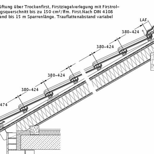 Technický výkres škridly TITANIA DQL DQL