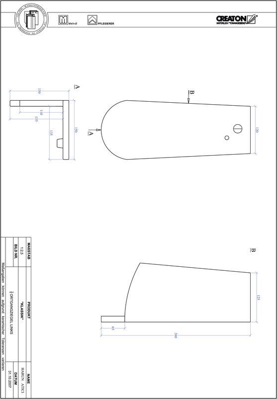 Súbor CAD škridly KLASSIK zaoblený vzor RUND-OGL-3-4