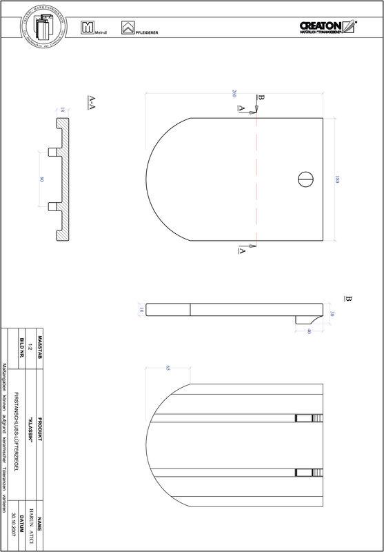 Súbor CAD škridly KLASSIK zaoblený vzor RUND-FALZ