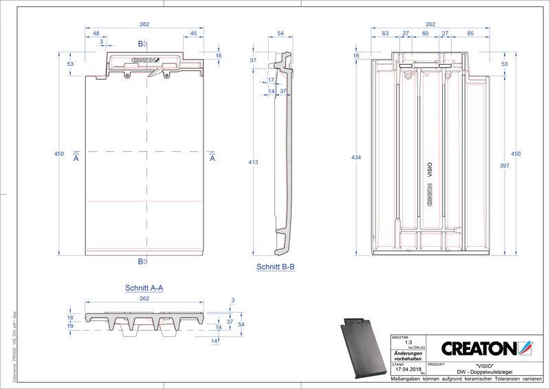 Súbor CAD škridly VISIO škridľa s dvojitou vlnou DWZ