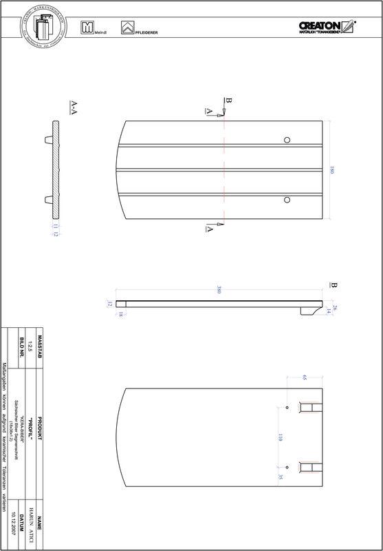 Súbor CAD škridly PROFIL segmentový vzor KERA-SAECHS-18-CM-1-1