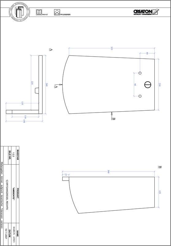 Súbor CAD škridly AMBIENTE segmentový rez SEG-OGR-1-1-4