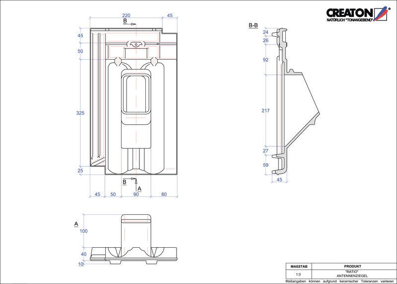 Súbor CAD škridly RATIO anténna škridľa ANTENNE