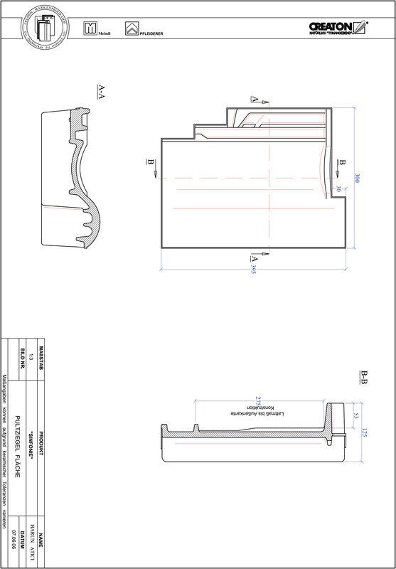 Súbor CAD škridly SINFONIE pultová škridľa PULTFLA