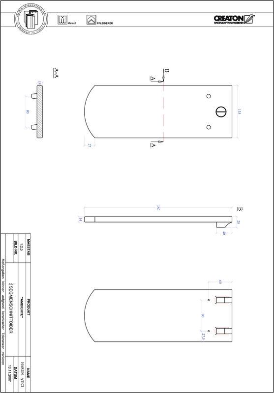 Súbor CAD škridly AMBIENTE segmentový rez SEG-3-4